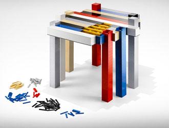 意大利微型乐高积木玩具桌设计