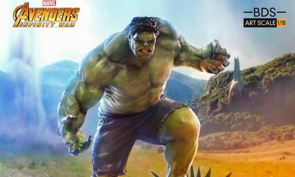 Iron Studios Battle Diorama 《复仇者联盟3:无限战争》浩克 1/10 场景雕像