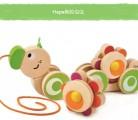 Hape拖拉虫虫玩具功能:开发视觉 促进宝宝学步