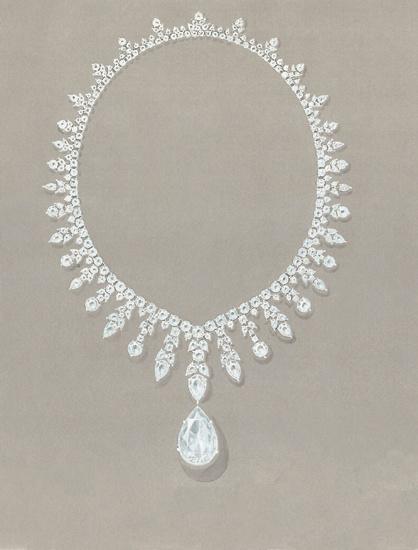 300多颗钻石打造 蒂芙尼惊世项链