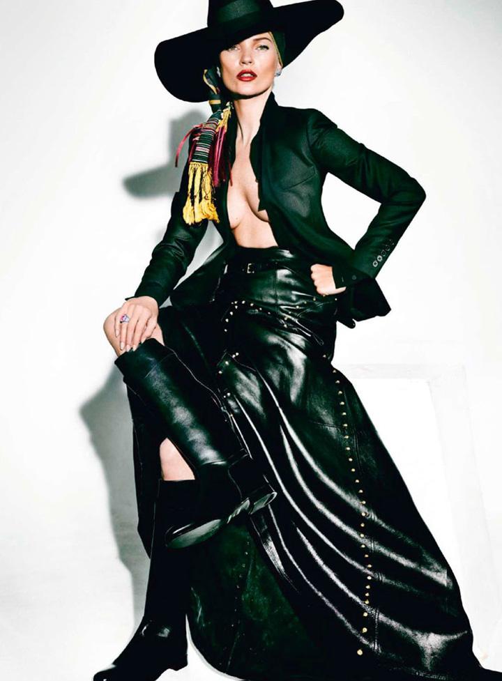 Kate Moss演绎《Vogue》法国版2013年4月号