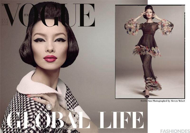 孙菲菲登上《Vogue Italia》2013开年刊封面