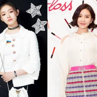 简约时尚风,刘诗诗和林允撩人全靠它
