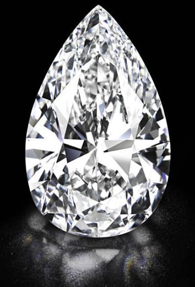 佳士得将呈献拍卖史上最大D色无瑕钻石