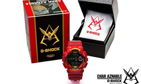 万代《机动战士高达》35周年记念商品 G-SHOCK x GUNDAM