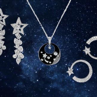 除了山茶花,香奈儿COMÈTE系列的星星珠宝也能闪瞎你的眼