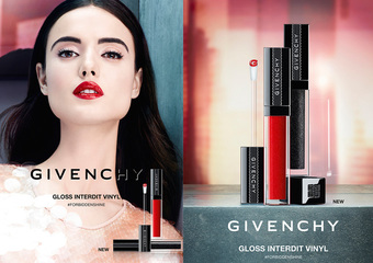"""Givenchy -""""禁忌之吻水凝光唇釉""""12种晶透亮泽 极限发光色调 不用多说 只需读懂我的唇"""