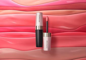 """KOSE - """"幻妆奶油霜润唇釉""""完美结合唇膏的浓密显色、持久色泽+唇蜜的轻盈延展、水嫩润泽,两种质地二合一的新触感润唇釉"""