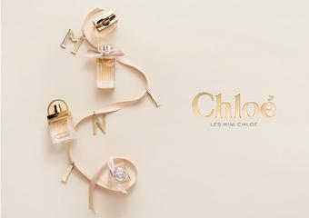 "Chloé - 每年春季的香氛约定 2018 小小Chloé来卖萌!""小小爱情故事日落巴黎淡香精""首度加入小小系列"