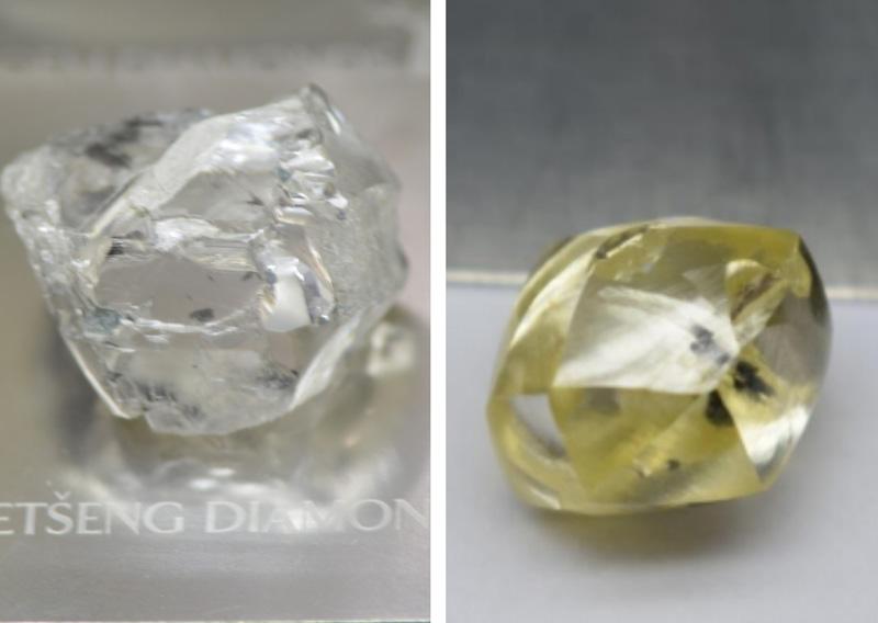 钻石开采报双喜  115克拉白钻和25克拉黄钻出土