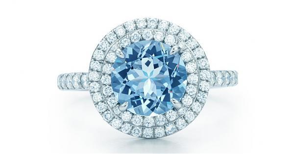 好想戴上它!Tiffany&Co.梦幻海蓝宝钻戒