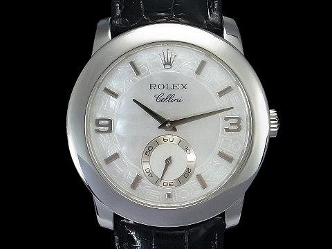 ROLEX 劳力士 Cellini 彻里尼 5240 PT950铂金 白色珍珠面 机械男表