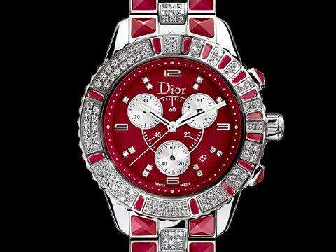 Dior 迪奥 CHRISTAL 极致奢华水晶计时码表 38mm 顶级钻表 原厂盒单