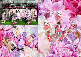 DOLCE&GABBANA - 繁花似锦的牡丹花园 于唇、颊、眼、指尖 一次完美盛放谱出春天恬蜜的罗曼史