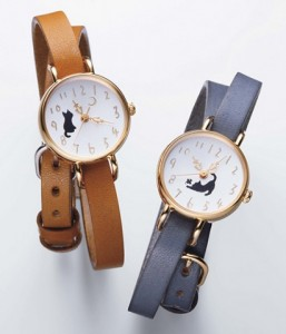 纤细的绕两圈皮革表带很时尚!为猫奴而诞生的表