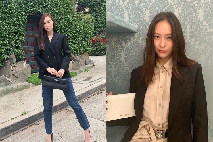 jessica & krystal開拍第二季?鄭氏姐妹穿搭重點,明明圖片