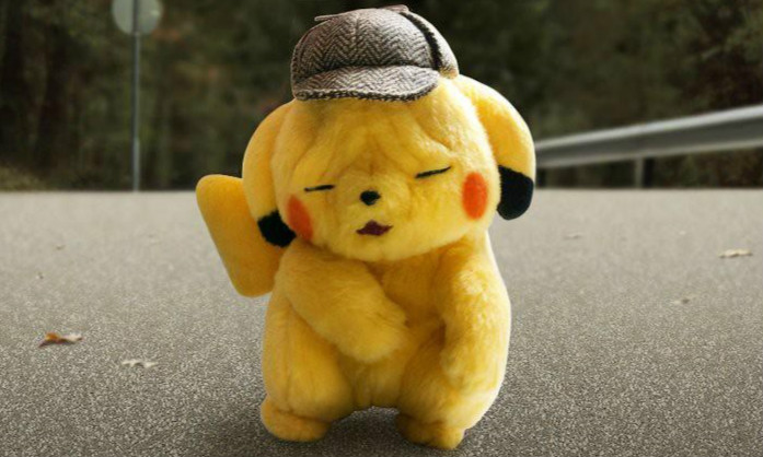 Pokémon Center《名侦探皮卡丘》脸皱成一团的皮卡丘 绒毛布偶