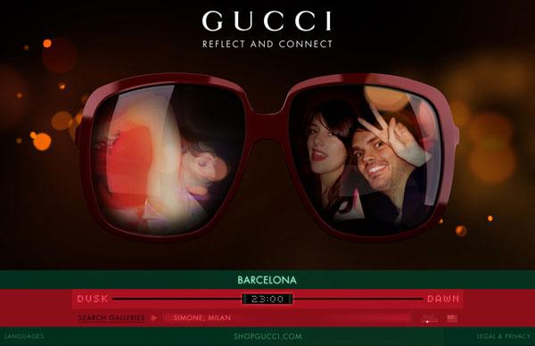 GUCCI推出全新「EYEWEB」太阳眼镜系列及社交微型网站,最新奢侈品资讯