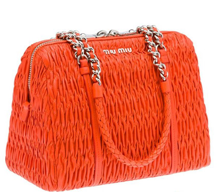Miu推出2012新款抓皱小羊皮包袋